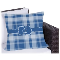 Plaid Outdoor Pillow (Personalized)