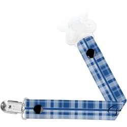 Plaid Pacifier Clips (Personalized)