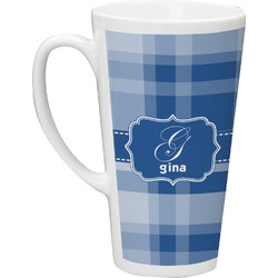 Plaid 16 Oz Latte Mug (Personalized)