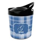Plaid Plastic Ice Bucket (Personalized)
