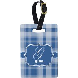 Plaid Rectangular Luggage Tag (Personalized)