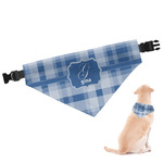 Plaid Dog Bandana (Personalized)