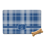 Plaid Pet Bowl Mat (Personalized)