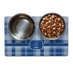 Plaid Pet Bowl Mat (Personalized)