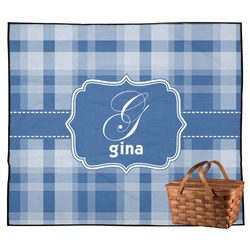 Plaid Outdoor Picnic Blanket (Personalized)