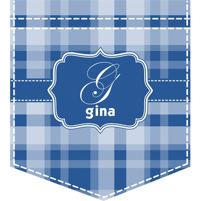 Plaid Iron On Faux Pocket (Personalized)