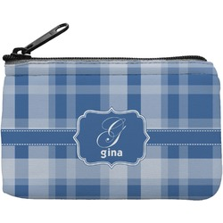 Plaid Rectangular Coin Purse (Personalized)