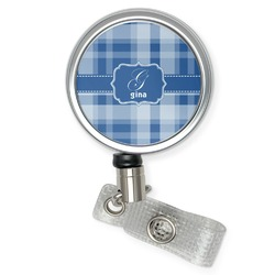 Plaid Retractable Badge Reel (Personalized)