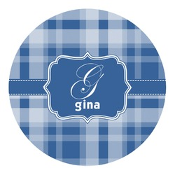Plaid Round Decal (Personalized)