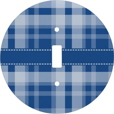 Plaid Round Light Switch Cover (Personalized)