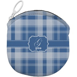 Plaid Round Coin Purse (Personalized)