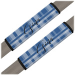 Plaid Seat Belt Covers (Set of 2) (Personalized)