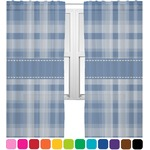 Plaid Sheer Curtains (Personalized)