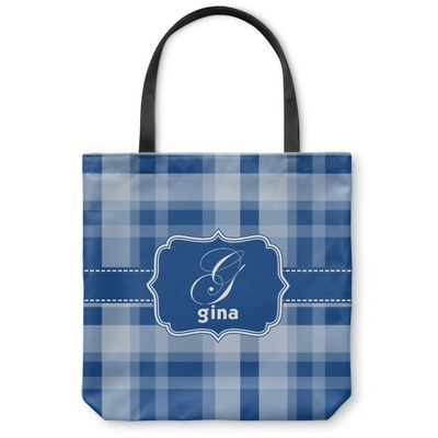 Plaid Canvas Tote Bag (Personalized)