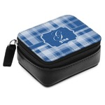 Plaid Small Leatherette Travel Pill Case (Personalized)