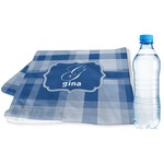 Plaid Sports & Fitness Towel (Personalized)
