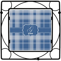Plaid Square Trivet (Personalized)