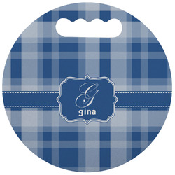 Plaid Stadium Cushion (Round) (Personalized)