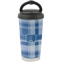 Plaid Stainless Steel Travel Mug (Personalized)