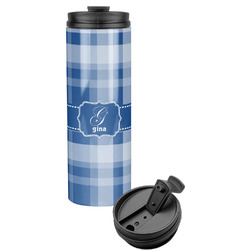 Plaid Stainless Steel Tumbler (Personalized)