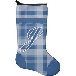 Plaid Christmas Stocking - Neoprene (Personalized)