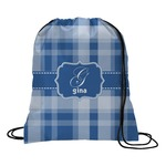 Plaid Drawstring Backpack (Personalized)