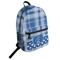Plaid Student Backpack (Personalized)