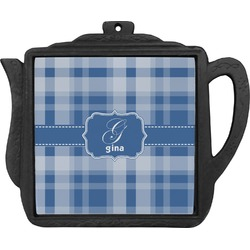 Plaid Teapot Trivet (Personalized)
