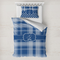 Plaid Toddler Bedding w/ Name and Initial
