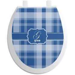 Plaid Toilet Seat Decal (Personalized)