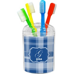Plaid Toothbrush Holder (Personalized)