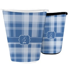 Plaid Waste Basket (Personalized)