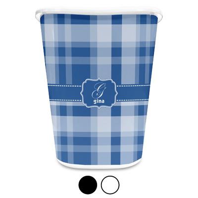 Plaid Waste Basket (Personalized)