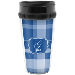 Plaid Travel Mugs (Personalized)