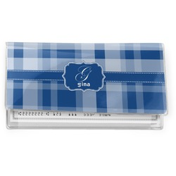 Plaid Vinyl Checkbook Cover (Personalized)