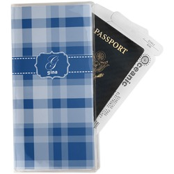 Plaid Travel Document Holder