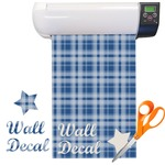Plaid Pattern Vinyl Sheet (Re-position-able)