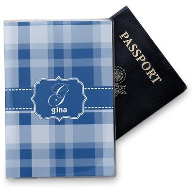 Plaid Vinyl Passport Holder (Personalized)
