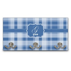 Plaid Wall Mounted Coat Rack (Personalized)