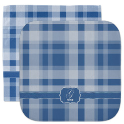 Plaid Facecloth / Wash Cloth (Personalized)