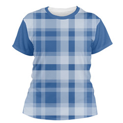 Plaid Women's Crew T-Shirt (Personalized)