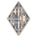 Plaid Genuine Wood Sticker (Personalized)