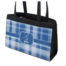 Plaid Zippered Everyday Tote (Personalized)