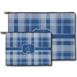 Plaid Zipper Pouch (Personalized)
