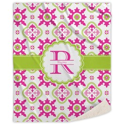 Suzani Floral Sherpa Throw Blanket (Personalized)