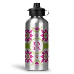 Suzani Floral Water Bottle - Aluminum - 20 oz (Personalized)