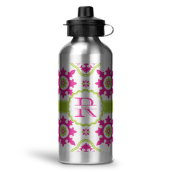 Suzani Floral Water Bottle - Aluminum - 20 oz (Personalized)