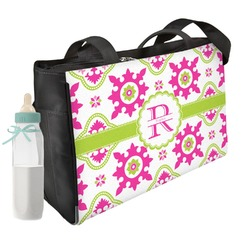 Suzani Floral Diaper Bag w/ Name and Initial