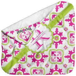 Suzani Floral Baby Hooded Towel (Personalized)