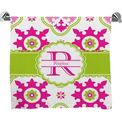Suzani Floral Full Print Bath Towel (Personalized)